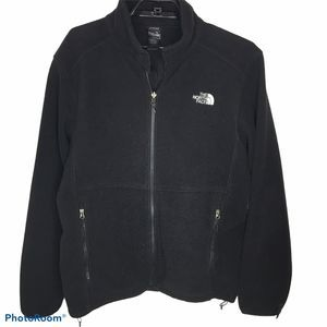 North Face Mens Black Fleece Jacket Size Large